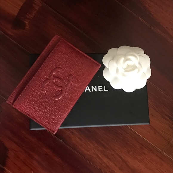 d3aa49797418bb CHANEL Bags | New Red Caviar Leather Card Holder Wallet | Poshmark